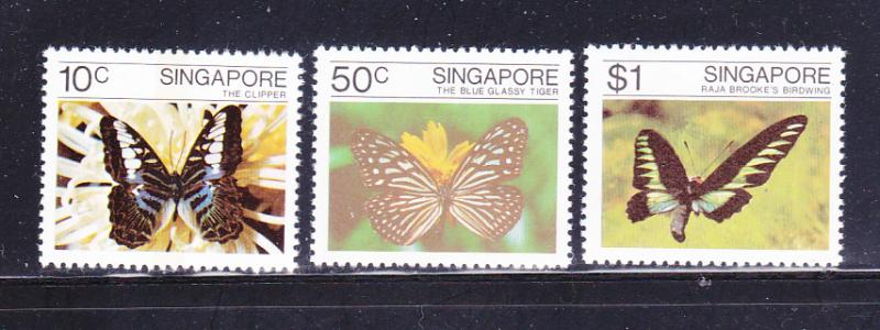 Singapore 387-389 Set MNH Insects, Butterflies (A)