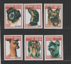 TOGO #1911A-F 1999 DOGS MINT VF NH O.G aa
