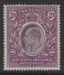 KENYA, UGANDA & TANGANYIKA SG27 1906 2r DULL & BRIGHT PURPLE MTD MINT CREASE