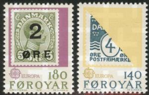 FAROE ISLANDS Scott 43-44 MNH** Europa 1979  stamp on stamp