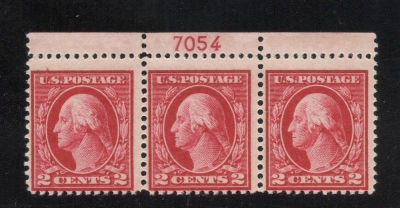US#406 Carmine - Plate# Blk. 3 - Unused - O. G. - N. H.