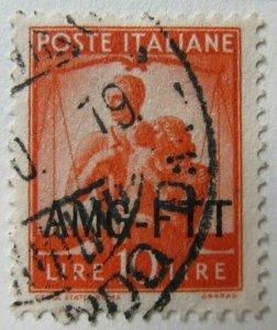 Italy AMG FTT Trieste 1949-50 Democratica 10L fine used A16P9F664