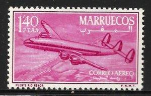 Morocco Northern Zone Air Mail 1956 Scott# C2 MH (gum disturbance)