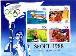 NEW ZEALAND B133a MNH S/S SCV $4.00 BIN $2.75 OLYMPICS