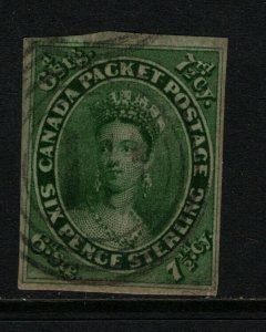 Canada #9 Very Fine Used With Light 4 Ring Cancel **With Certificate**