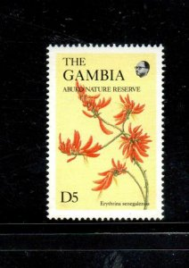 GAMBIA #689B  1987  5d   WILDFLOWERS  MINT VF NH  O.G