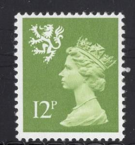 Great Britain Scotland  #SMH17 12 p  MNH Q E II   Machin yellow green