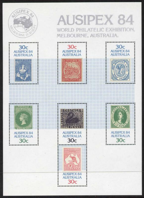 Australia 926 MNH Stamp on Stamp, Animal, Map