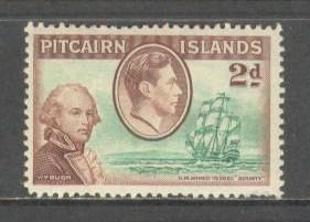 PITCAIRN ISL Sc# 4 MH FVF W.M. Bligh & H.M. Vessel Bounty