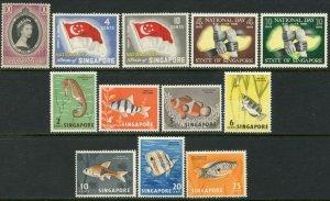 SINGAPORE Sc#27,49-59,73-75,77-82 1953-67 Seven Complete Sets OG Mint Hinged