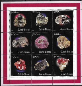 Guinea-Bissau MNH S/S Colorful Minerals 2001