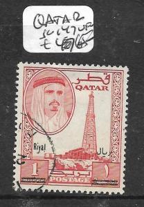 QATAR  (PP0604B) 1R  REVALUED SG 147  VFU