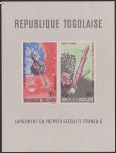 STAMP STATION PERTH Togo #C66a YTBF24 MNH S/S CV$5 First French Satellite (FR1)/