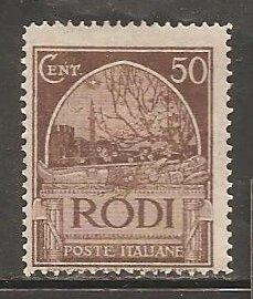 Italy- Rhodes SC  20   Mint Hinged