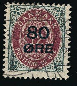 Denmark Nice SC #136 Fine Used hr SCV$100...Fill a key spot!