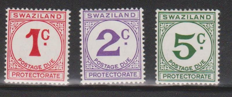 SWAZILAND Scott # J7-9 MH - Postage Dues
