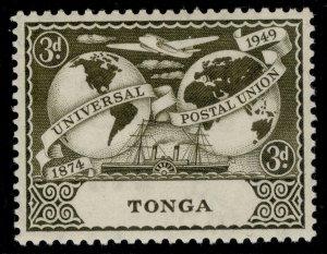 TONGA GVI SG89, 6d carmine-red, M MINT.