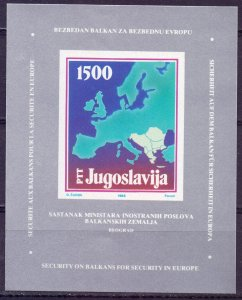 Yugoslavia. 1988. bl31. Balkan Foreign Ministers Conference. MNH.