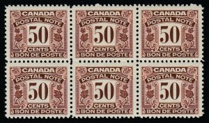 Canada (Revenue) van Dam FPS17, MNH block of six
