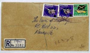 Jamaica INDEPENDENCE Stamps Registered Cover {samwells-covers}1969 CS18