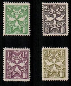 Malta J22a-28a (4v) - Mint hinged (Catalog Value $74.50)