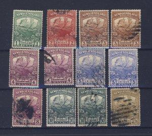 12x Newfoundland Caribou U stamps #115-116-2x117-2x118-2x119-121-122-125 $110.00