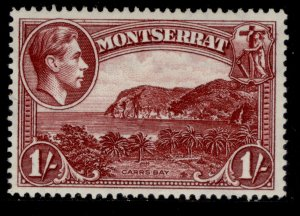 MONTSERRAT GVI SG108a, 1s lake, LH MINT.