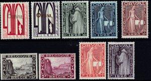 Belgium 1928, Orval Abby M-VF-LH set # B69-B77