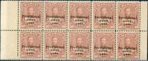 HAWAII #68 BLOCK OF 10; F-VF OG NH CV $250.00 BN7884
