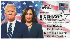 21-016, 2021, Presidential Inauguration, Event Cover, Pictorial Postmark,