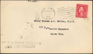 APRIL 28,1925 U.S.S. LOS ANGELES ZEPPELIN FLIGHT COVER TO PUERTO RICO HW1665
