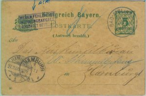 89229 - GERMANY Bayern - Postal History: DOUBLE STATIONERY CARD Bad Aibling 1900