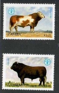Zambia; Scott 419-420; 1987;  Used; NH