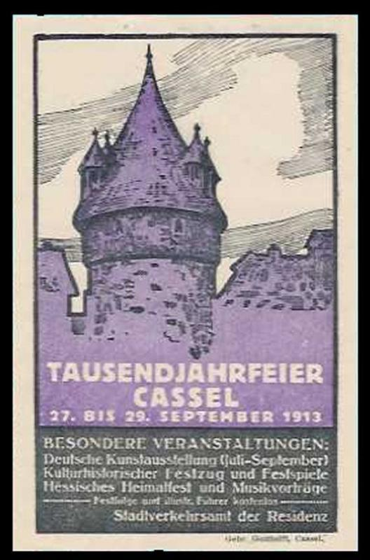 Germany 1913 Cassel Thousand Year Fair Mini Poster