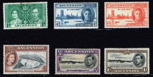 UK STAMP ASCENSION MINT STAMP COLLECTION LOT 1SH THIN