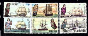 Liberia 608-13 MNH 1992 Sailing Ships