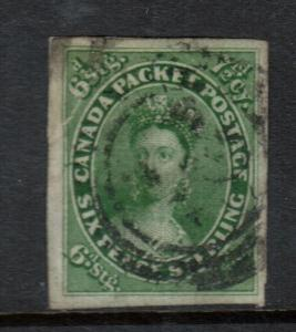 Canada #9 Extra Fine Used - Repaired To Hide A Tear