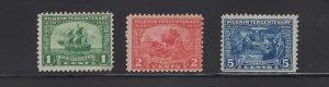 US Stamps Scott #548, 549, 550 Pilgrim Tercentenary Mint Never Hinged SCV $97.50