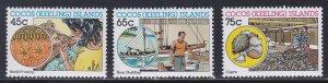 Cocos Islands # 166-168, Industries, NH, 1/2 Cat.