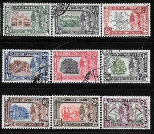 India Jaipur 49-57: Maharaja Man Singh II, Loccal Scenes, used, F-VF