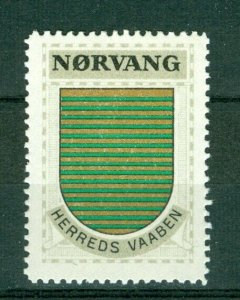 Denmark. Poster Stamp 1940/42. Mnh. District: Norvang. Coats Of Arms. Stripes.
