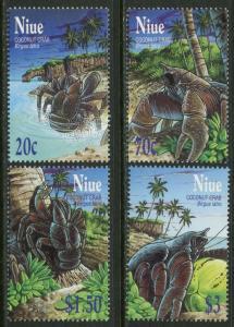 NIUE Sc#759-762 2001 Coconut Crabs Complete Set OG Mint NH