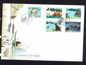 Sweden: 2006, Summer by the lake, First day cover