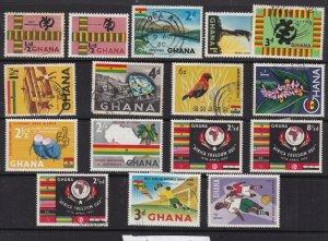 GHANA  ^^^^^^1959-60   hinged collection  $$@ dca 100gha