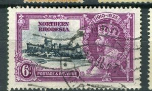 NORTHERN RHODESIA; 1935 early GV Jubilee issue fine used 6d. value