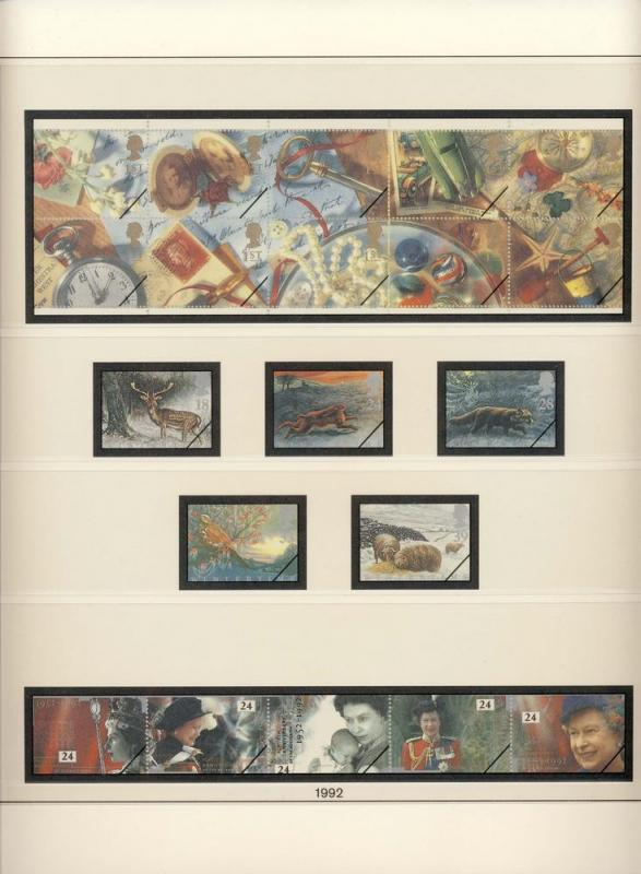 Great Britain UK 1992 Lindner Stamp Album Supplement Pages