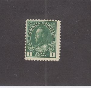 CANADA (MK509) # 104  F- MNH  1cts KING GEORGE V ADMIRAL /GREEN CAT VALUE $30