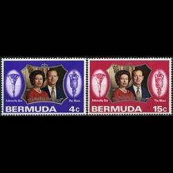 BERMUDA 1972 - Scott# 296-7 Silver Wedding Set of 2 NH
