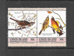 BIRDS - ST VINCENT GRENADINES-UNION ISLAND #187a-b  MNH