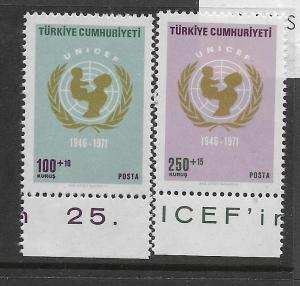 TURKEY, B140-B141, MNH, UNICEF